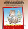 Cartoon: A Teddy Bear and his booze (small) by wyattsworld tagged yukon,alcohol,canada,calendar