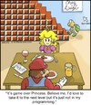 Cartoon: Game Over (small) by noodles tagged mario,princess,nintendo,break,up,next,level