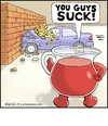 Cartoon: Kool-Aid (small) by noodles tagged kool,aid,crash,test,dummies,brick,wall