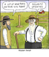 Cartoon: Modern Amish (small) by noodles tagged amish,computers,security,posts,noodles