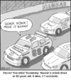 Cartoon: Nascar (small) by noodles tagged nascar,cars,race,old,driver