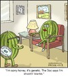 Cartoon: Seedless (small) by noodles tagged watermelon,doctors,office,fertility,seedless,genetic