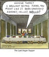 Cartoon: The Last Vegan Supper (small) by noodles tagged last,supper,jesus,leonardo,davinci,vegan