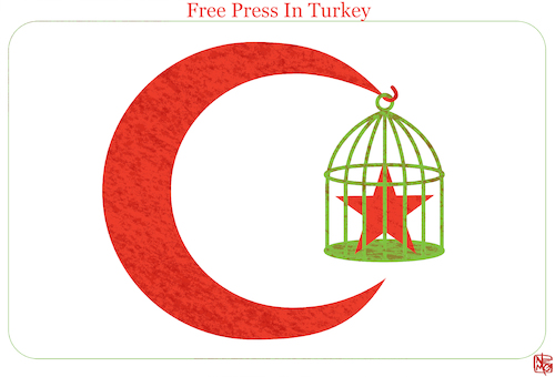 Cartoon: Free Press In Turkey (medium) by NEM0 tagged democracy,turkey,free,press,censorship,censoring,suppress,suppression,repression,human,rights,speech,freedom,erdogan,authoritarian,dictator,dictatorship,newspapers,media,information,opposition,critics,criticism,dogan,turk,democracy,turkey,free,press,censorship,censoring,suppress,suppression,repression,human,rights,speech,freedom,erdogan,authoritarian,dictator,dictatorship,newspapers,media,information,opposition,critics,criticism,dogan,turk