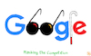 Cartoon: Google Masking (small) by NEM0 tagged google,masking,competition,eu,penalty,fin,billion,euro,europe,googles,cane,blind,search,engine,results