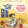 Cartoon: HOMEWORK OVERLOAD (small) by NEM0 tagged school,schools,homework,student,kid,kids,parent,parents,teach,teacher,schooling,grade,grades