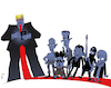 Cartoon: Red Line (small) by NEM0 tagged trump,putin,assad,kim,jong,un,xi,hassan,rohani,us,usa,russia,syria,north,korea,china,isis,iran,nuclear,missile,test,icbm,nemo,nem0,military,war