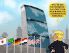 Cartoon: UNtaughlich (small) by NEM0 tagged un,trump,nemo,nem0