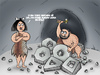 Cartoon: Sedentary (small) by elihu tagged pre,history,sedentary,caveman,wheel
