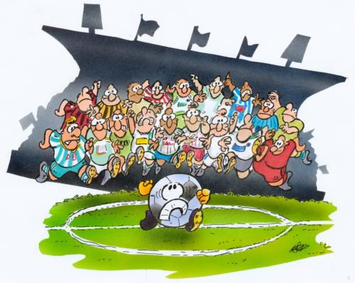 Cartoon: Soccer (medium) by HSB-Cartoon tagged soccer,football,sport,fussball,fussballspieler,stadion,ball