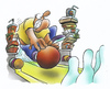 Cartoon: Bowling (small) by HSB-Cartoon tagged bowling,sport,kegel,kegeln,fastfood,hamburger,mc,donalds,burger,king,fett,kegelkugel,bowlingkugel,kegelbahn,bowlingbahn,airbrush