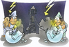 Cartoon: electrical power outage (small) by HSB-Cartoon tagged power,electricity,thunder,thunderstorm,braekdown,mains,failure,blackout,outagecandle,night,energy,strom,energie,stromausfall,nacht,kerze,cartoon,caricature,karikatur,airbrush