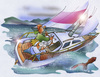 Cartoon: heeled sailboat (small) by HSB-Cartoon tagged sailing,heeled,sailboat,sea,ocean,weather,storm,thunder,couple,sailor,segeln,segelboot,unwetter,meer,ozean,boot,schiff,wind,airbrush