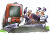 Cartoon: Lärmschutz (small) by HSB-Cartoon tagged db,bahn,eisenbahn,lok,lokomotive,lärmschutz,schiene,gleise,politik,politiker,bahnhof,zug,zugverkehr,lärmschutzgutachten,konfrontation,politikkarikatur,cartoon