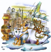 Cartoon: landlubbers (small) by HSB-Cartoon tagged landlubbers,sailing,ship,boat,harbour,port,sailingship,sailor,landratte,landratten,segeln,segelschiff,hafen,yacht,yachthafen,airbrush,airbrushcartoon,airbrushhandcraft,illustration,caricature,karikatur
