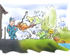 Cartoon: Naturschutzgebiet (small) by HSB-Cartoon tagged natur,naturschutz,hund,mensch