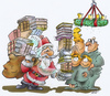 Cartoon: Santa Claus (small) by HSB-Cartoon tagged bildung,weihnachten,nikolaus,advent,buch