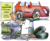 Cartoon: Sommerreifen (small) by HSB-Cartoon tagged winter,winterreifen,sommerreifen,werkstatt,auto,reifenwechsel,mechaniker,hebebühne,jahreszeit,schneeketten,autoreifen,airbrush