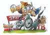 Cartoon: Triathlon (small) by HSB-Cartoon tagged triathlon swimming running bicycle bike sport run swim laufen rennen sportart triathlet athlet sportathlet sportler sportsmen fahrrad mehrkampf airbrush