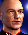 Cartoon: Patrick Stewart (small) by Cartoonfix tagged patrick,stewart,jean,luc,picard,raumschiff,enterprise