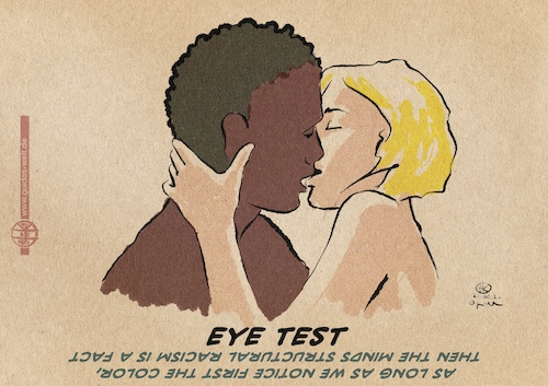 Cartoon: Eye Test (medium) by Guido Kuehn tagged racism,racism