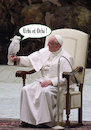 Cartoon: Holy Parrot (small) by poleev tagged francis franziskus pope papst pontifex parrot vatican catholicism church