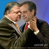 Cartoon: Venizelos-samaras-hug Febr2004 (small) by takis vorini tagged vorini