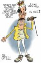 Cartoon: Freddie Borat Mercury (small) by campbell tagged music,queen,mercury