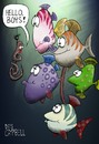 Cartoon: Gone fishing (small) by campbell tagged worm fish fishing underwater