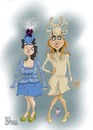 Cartoon: The mad princesses (small) by campbell tagged royal,wedding,william,kate,marriage,princess,beatrice,eugenie,westminster,abbey