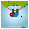 Cartoon: Spider Bradi Pit (small) by Giuseppe Scapigliati tagged bradi,pit,bradipo,sloth,lentezza,amore,spiderman
