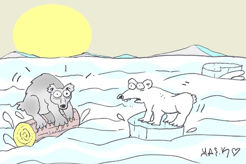 Cartoon: global warming (medium) by yasar kemal turan tagged global,warming