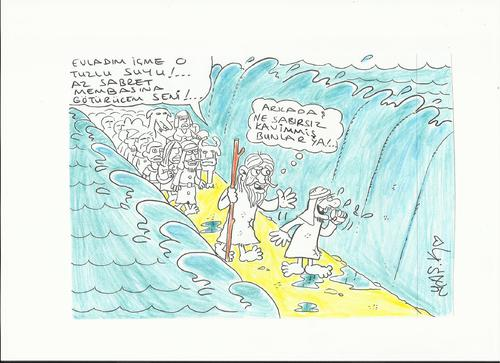 Cartoon: Prophet Moses (medium) by yasar kemal turan tagged moses,prophet