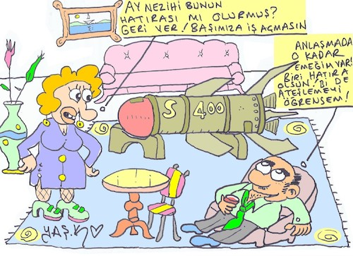 Cartoon: souvenir (medium) by yasar kemal turan tagged souvenir