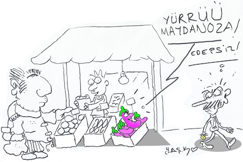 Cartoon: too expensive (medium) by yasar kemal turan tagged too,expensive