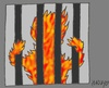 Cartoon: Honduras prisoners (small) by yasar kemal turan tagged honduras,prisoners,prison,fire,human,rights,fascism