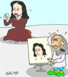Cartoon: Masters The Jacket (small) by yasar kemal turan tagged leonardo vinci da mona lsa make up love