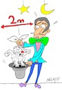 Cartoon: mesafe (small) by yasar kemal turan tagged mesafe