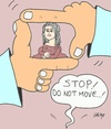 Cartoon: moment (small) by yasar kemal turan tagged moment love leonardo da vinci mona lisa