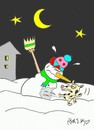 Cartoon: surprise visitors (small) by yasar kemal turan tagged surprise,visitors,dog,snowman