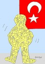 Cartoon: The man standing (small) by yasar kemal turan tagged the,man,standing