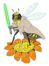 Cartoon: bee warrior (small) by dodotes tagged insects
