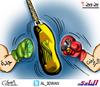 Cartoon: Between and among (small) by adwan tagged al ittihad fc jeddah saudi arabia
