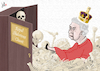 Cartoon: The Royal Skeletons Closet (small) by Emanuele Del Rosso tagged queen,harry,meghan,uk,racism