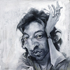 Cartoon: Serge Gainsbourg caricature (small) by Jeff Stahl tagged serge gainsbourg caricature jeff stahl illustration french singer songwriter