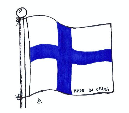 Cartoon: Symbol of the nation (medium) by Jani The Rock tagged finland,china,globalisation