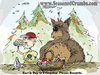 Cartoon: Earth Day (small) by Seasoned Crumbs tagged earth,day,seasoned,crumbs,coco,faber,bear,cartoon,recycle,water,bottle,forest,woods,animal