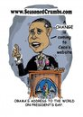 Cartoon: Obama Toon (small) by Seasoned Crumbs tagged barrak,obama,cartoon,president,seasoned,crumbs,humor,coco,faber