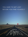 Cartoon: Get Lost - Find Yourself (small) by alesza tagged papertowns,paper,towns,get,lost,find,yourself,submission,highway,graphic,design,contest,competition,unikatdesign,john,green,margos,spuren
