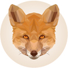 Cartoon: Red Fox (small) by alesza tagged red,fox,design,digital,illustration,graphic,art,animal